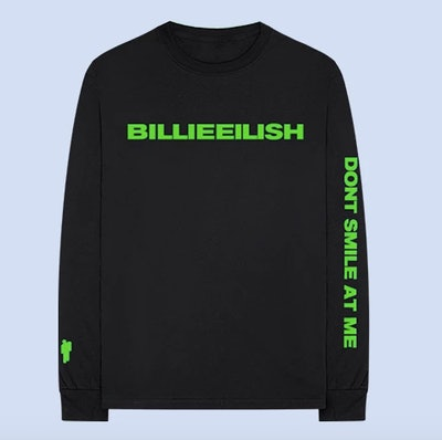 """""""dont smile at me"""" Black Long Sleeve"""