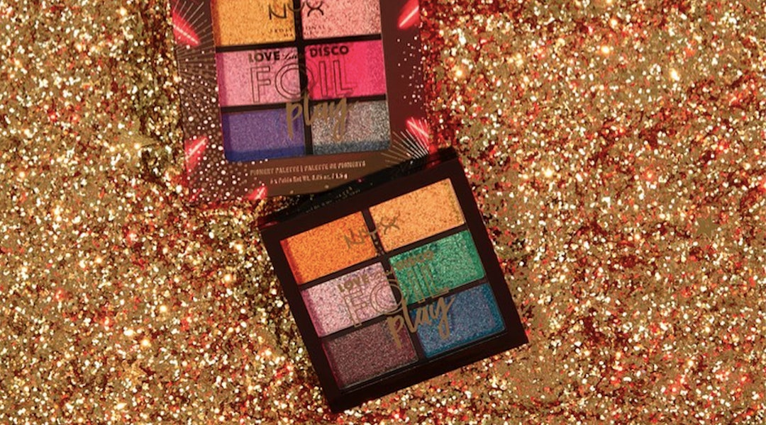 Target's winter clearance sale includes gift sets and holiday makeup like this NYX eyeshadow palette