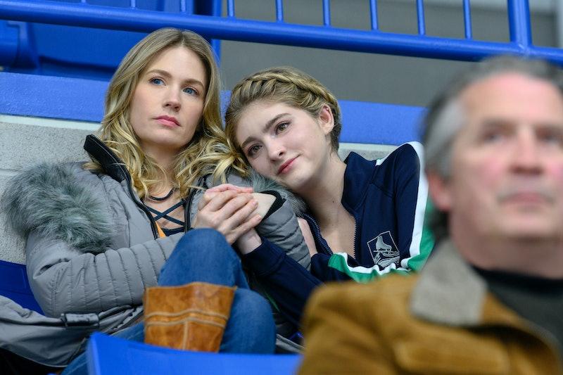 January Jones as Carol Baker in Netflix's Spinning Out