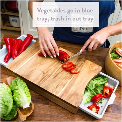 Kristie's Kitchen Chopping Board with Tray