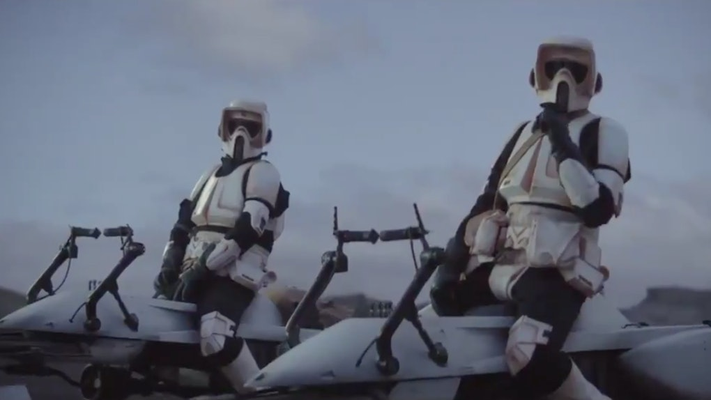 Adam Pally & Jason Sudeikis as storm troopers in 'The Mandalorian'