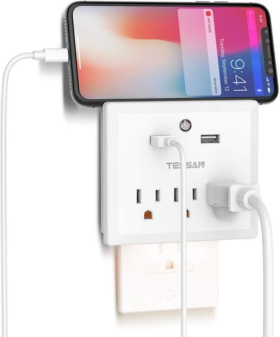 Multi Plug Outlet Extender with USB Wall Charger and Night Light