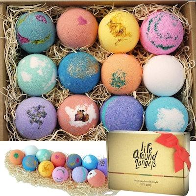 LifeAround2Angels Bath Bombs Gift Set (12-Piece Set)
