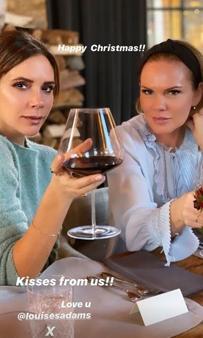 Victoria Beckham and her sister Louise Adams