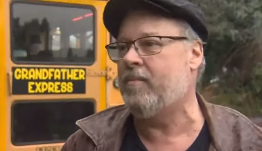 A grandfather surprised his kids with their very own school bus over the holidays.