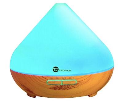 TaoTronics Ultrasonic Humidifier with Wood Grain