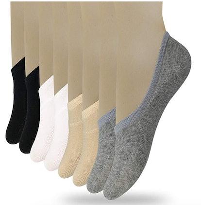 Eedor Women's Thin No-Show Socks (8 Pairs)