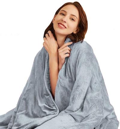 Hiseeme Minky Weighted Blanket