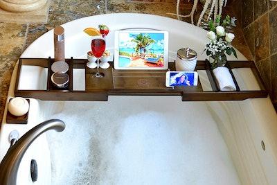 ROYAL CRAFT WOOD Luxury Bamboo Bathtub Caddy Tray