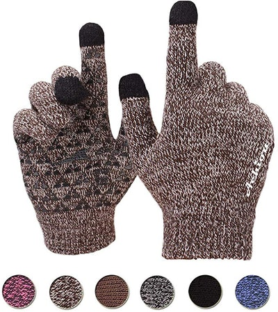 Achiou Winter Knit Thermal Touchscreen Gloves
