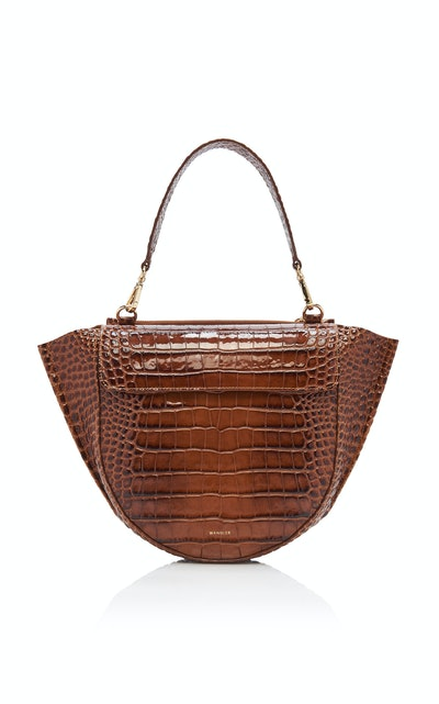 Croc-Effect Leather Bag