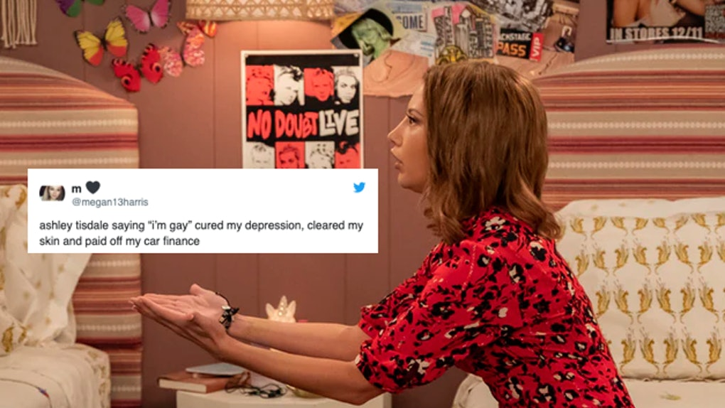 Ashley Tisdale's character in 'Merry Happy Whatever' and tweet about her