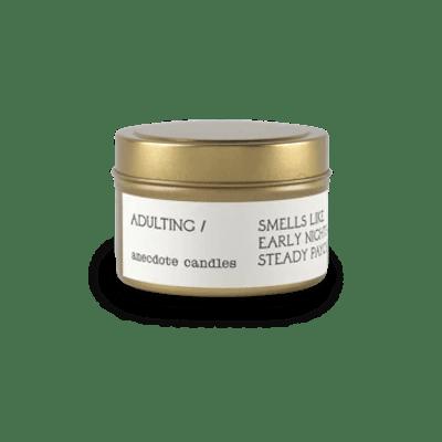 Adulting Tin Candle