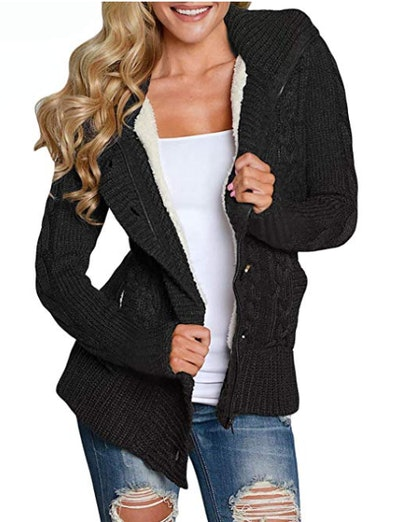Sidefeel Hooded Knit Cardigan