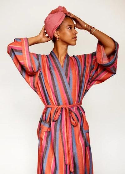 Striped Robe In Daze