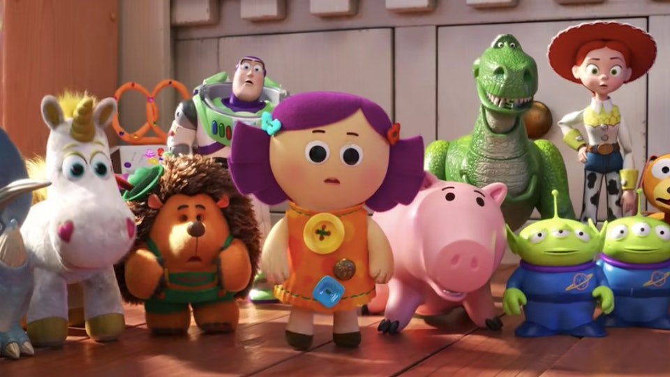 Best Holiday gifts for Toy Story Fans; Film still of Bonnie's toys from Toy Story 4 Movie
