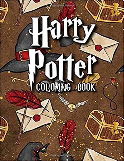 Harry Potter Coloring Book: Over 50 Hogwarts Harry Potter Coloring Books for Adults and Kids