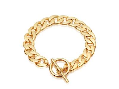 Gold T-Bar Chunky Chain Bracelet