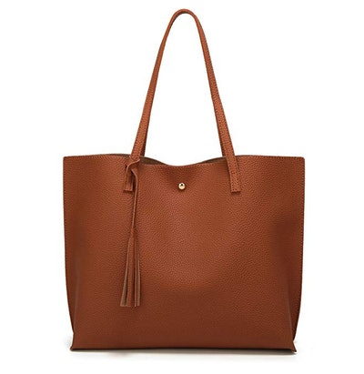 Faux Leather Tote Bag by Dreubea