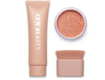Rose Gold Liquid & Powder Shimmer With Brush
