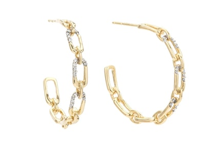 Medium Pave Hoop Earrings