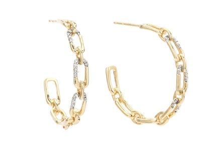 Medium Pave Hoop Earrings