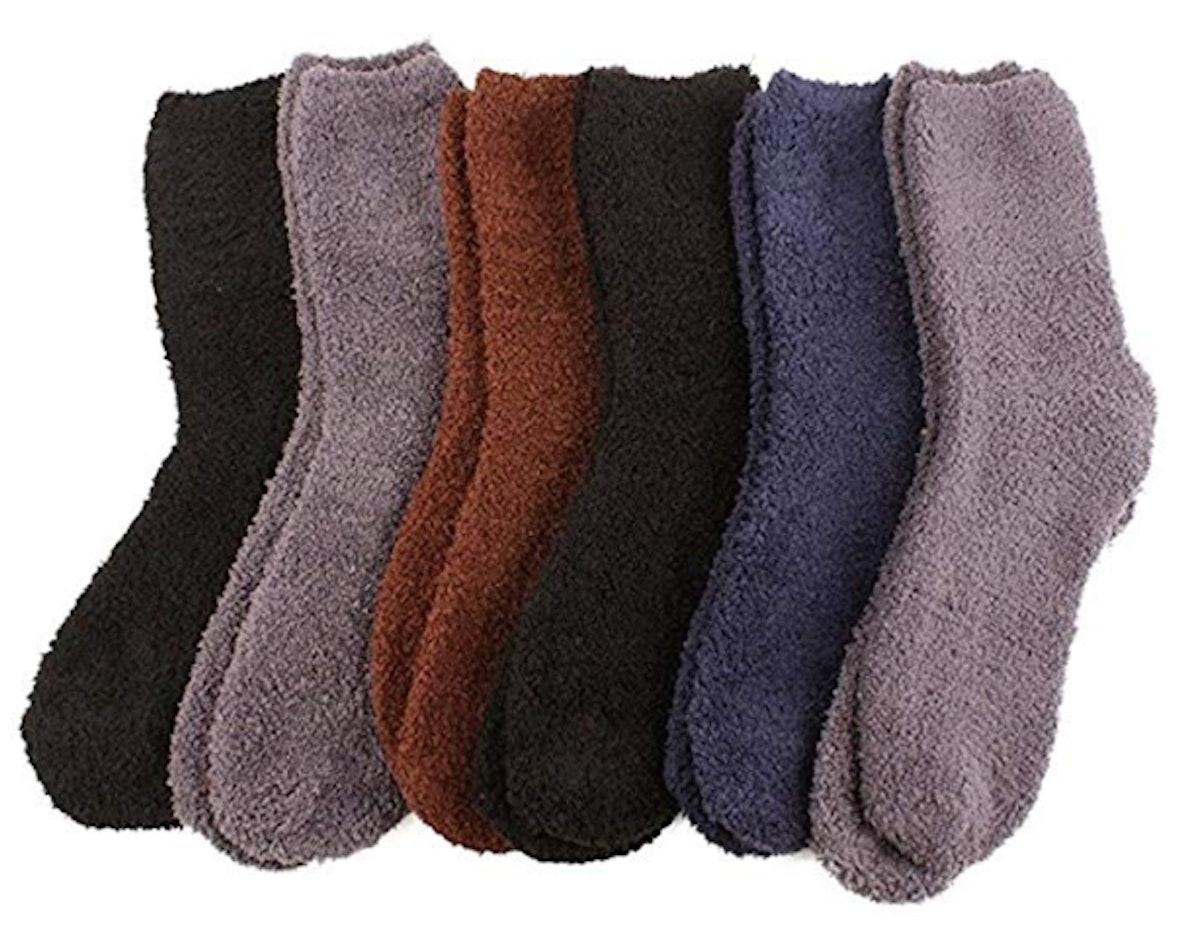 SK Hat Shop Fuzzy Winter Socks (6-Pack)