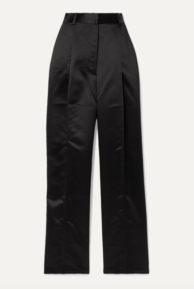 Valli Satin Straight Leg Pant