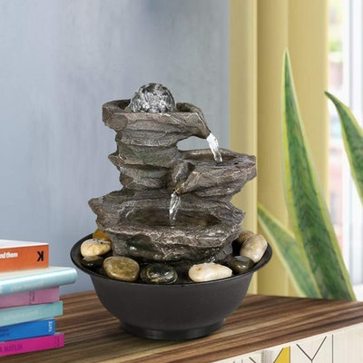 BBabe Rock Fall Tabletop Fountain