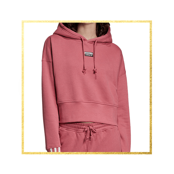 adidas Women's Vocal Cotton 3-Stripe Cropped Hoodie