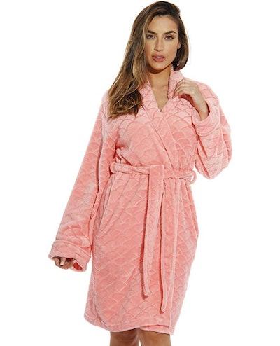 Just Love Scalloped Velour Robe
