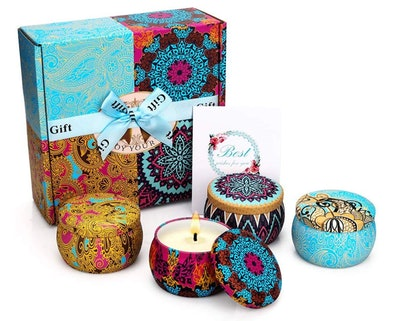 Yinuo Mirror Scented Candles Gift Set (4-Pack)