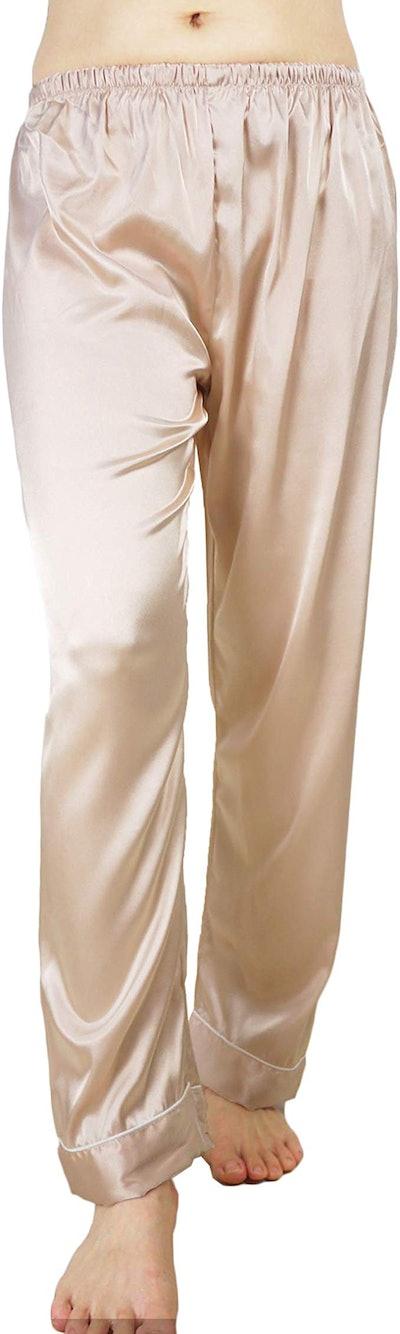 Wantschun Satin Sleepwear Pajamas Pants