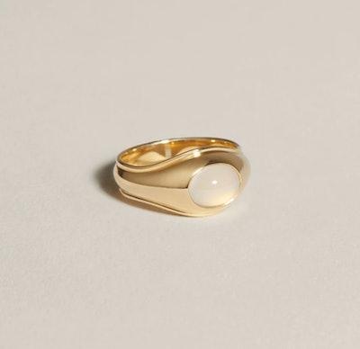 Strata Ring (Blue Chalcedony)