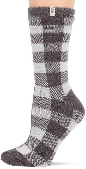 UGG Women's W Vanna Check Fleece Lined Sock