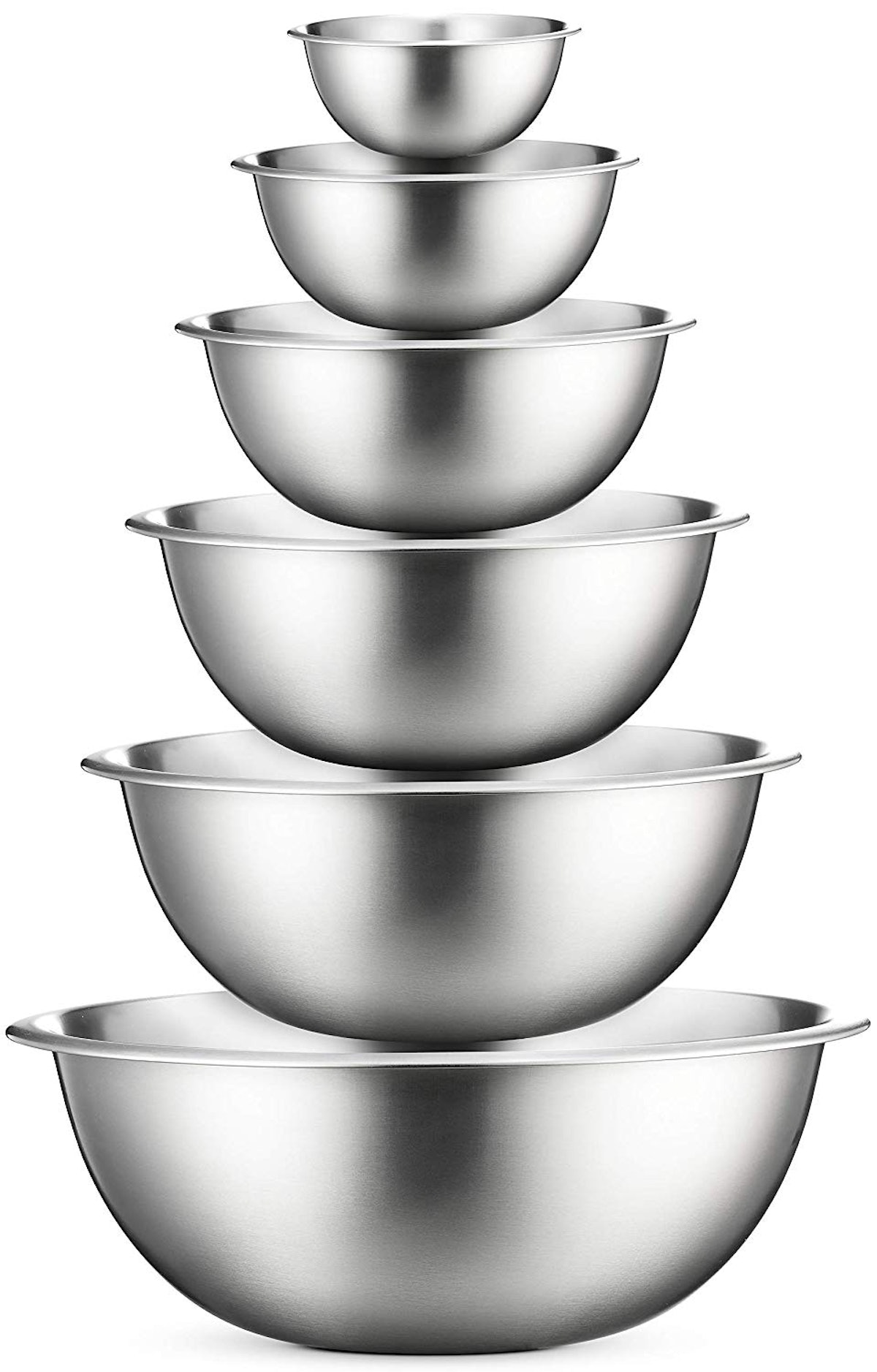 FineDine Stainless Steel Mixing Bowls (6-Piece Set)