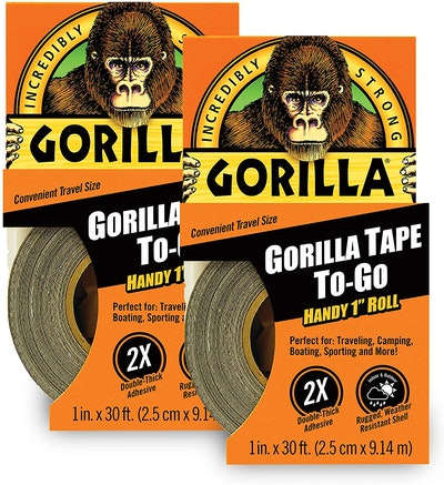 Gorilla Tape, Mini Duct Tape To-Go (2-Pack)