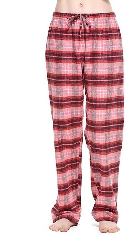 CYZ Women's 100% Cotton Flannel Plaid Pajama Pants