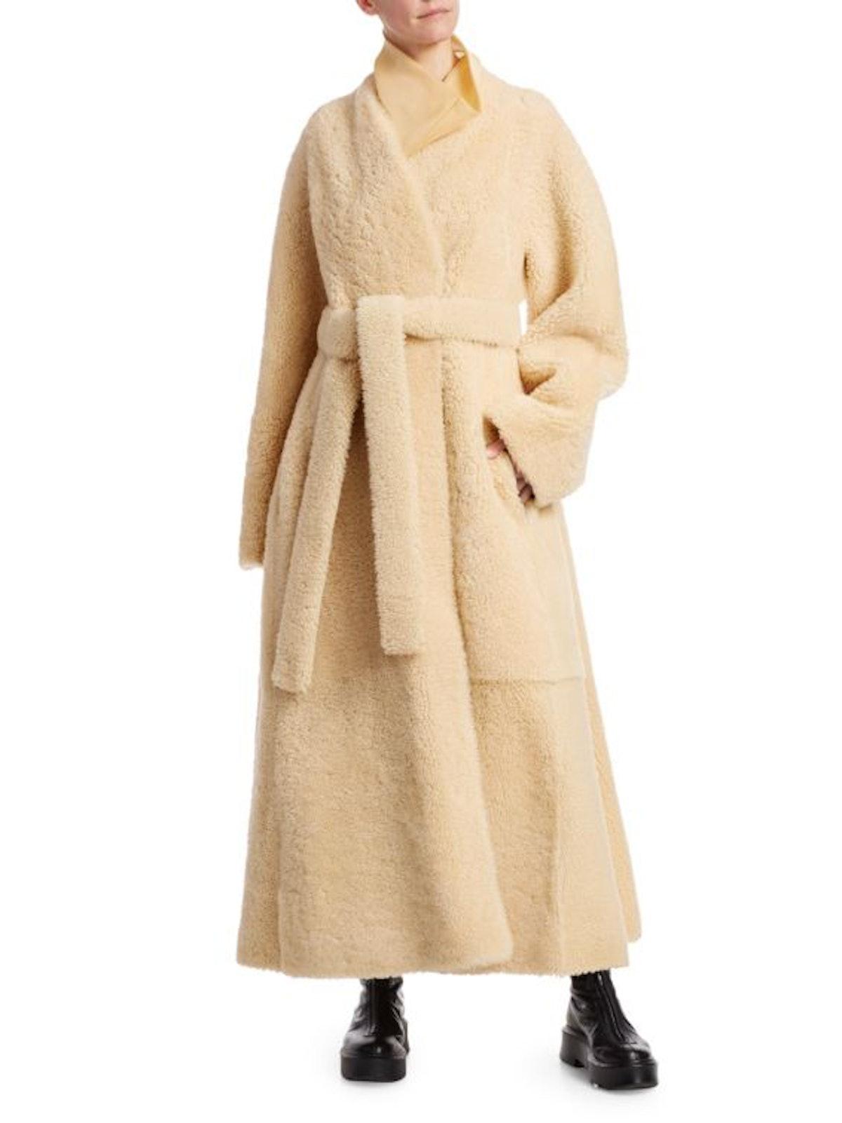 Tanilo Shearling Wrap Coat