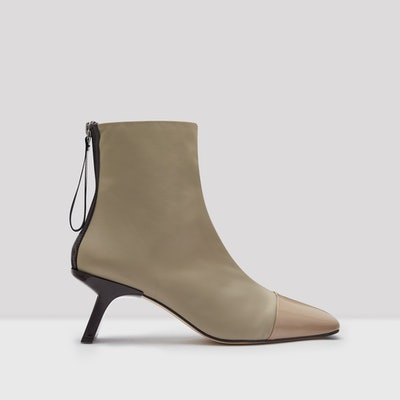 Edita Taupe Leather Nylon Boots