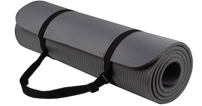 BalanceFrom GoYoga 1/2-Inch Extra Thick Yoga Mat with Carrying Strap