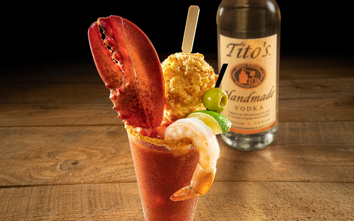Red Lobster's New Bloody Mary comes with a Cheddar Bar Biscuit.