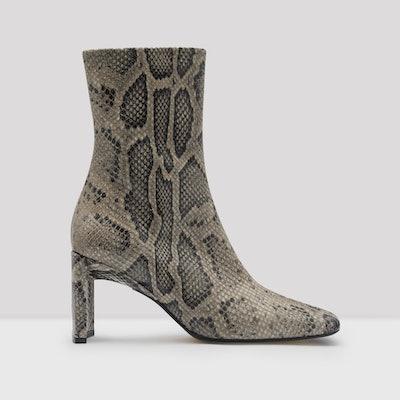 Ekatarina Taupe Snake Leather Boots