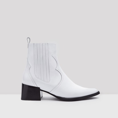 Minea White Patent Leather Boots