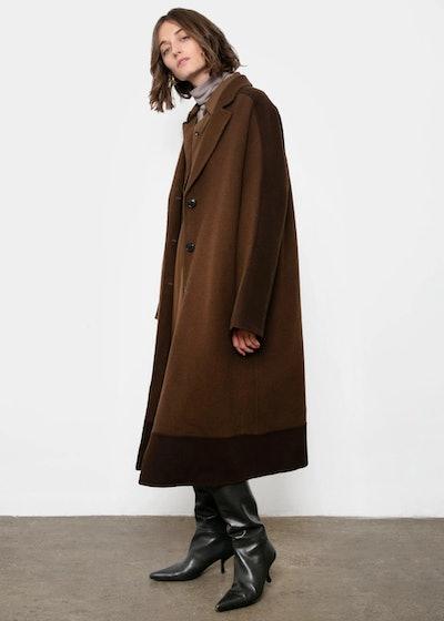 Chocolate Two-Tone Coat