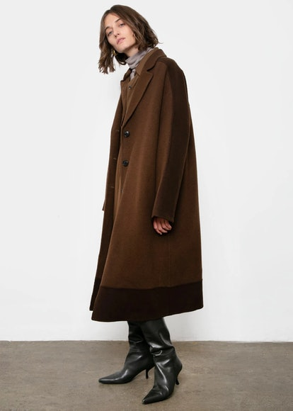 Chocolate Two-Tone Coat