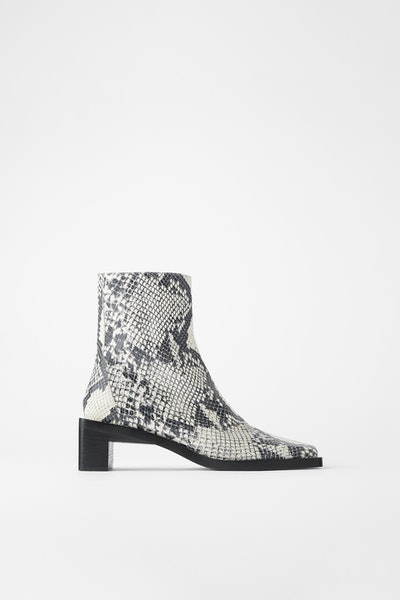 Heeled Square Toe Ankle Boots