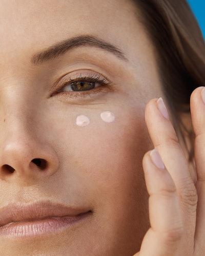 Supergoop!'s new Bright-Eyed cream swatch on skin