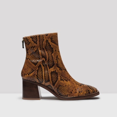 Cybil Citrine Snake Leather Boots