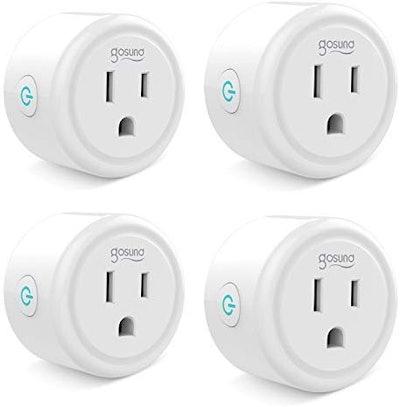 Gosund Mini Wifi Smart Plugs (4-Pack)